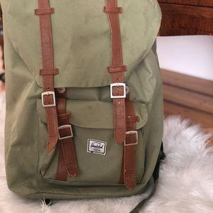 Herschel Supply Company Bags - HERSCHEL Olive Green Little America Backpack ac6e23f454202